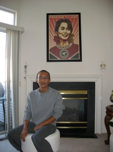 Kyaw Zaw Lwin at home