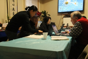 A computer class The Bronx Korean American Senior Citizen Association on Grand Concourse in the Bronx.